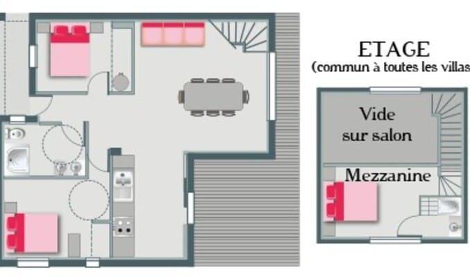 Plan de la villa